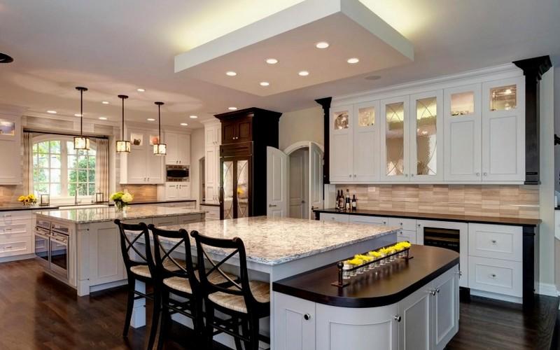 точечный свет на кухне