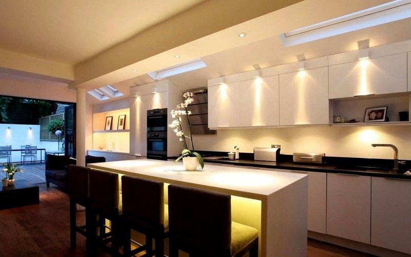 проектирование освещения на кухне