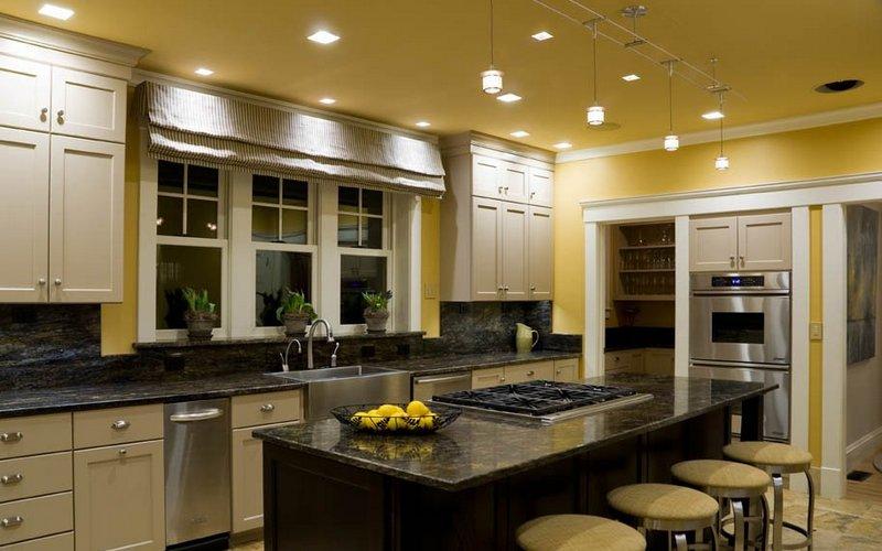красивое освещение на кухне