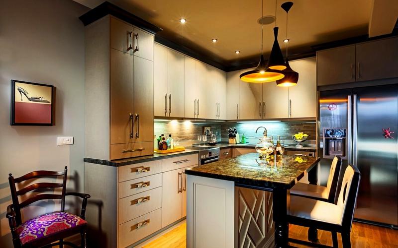 красивое освещение на маленькую кухню