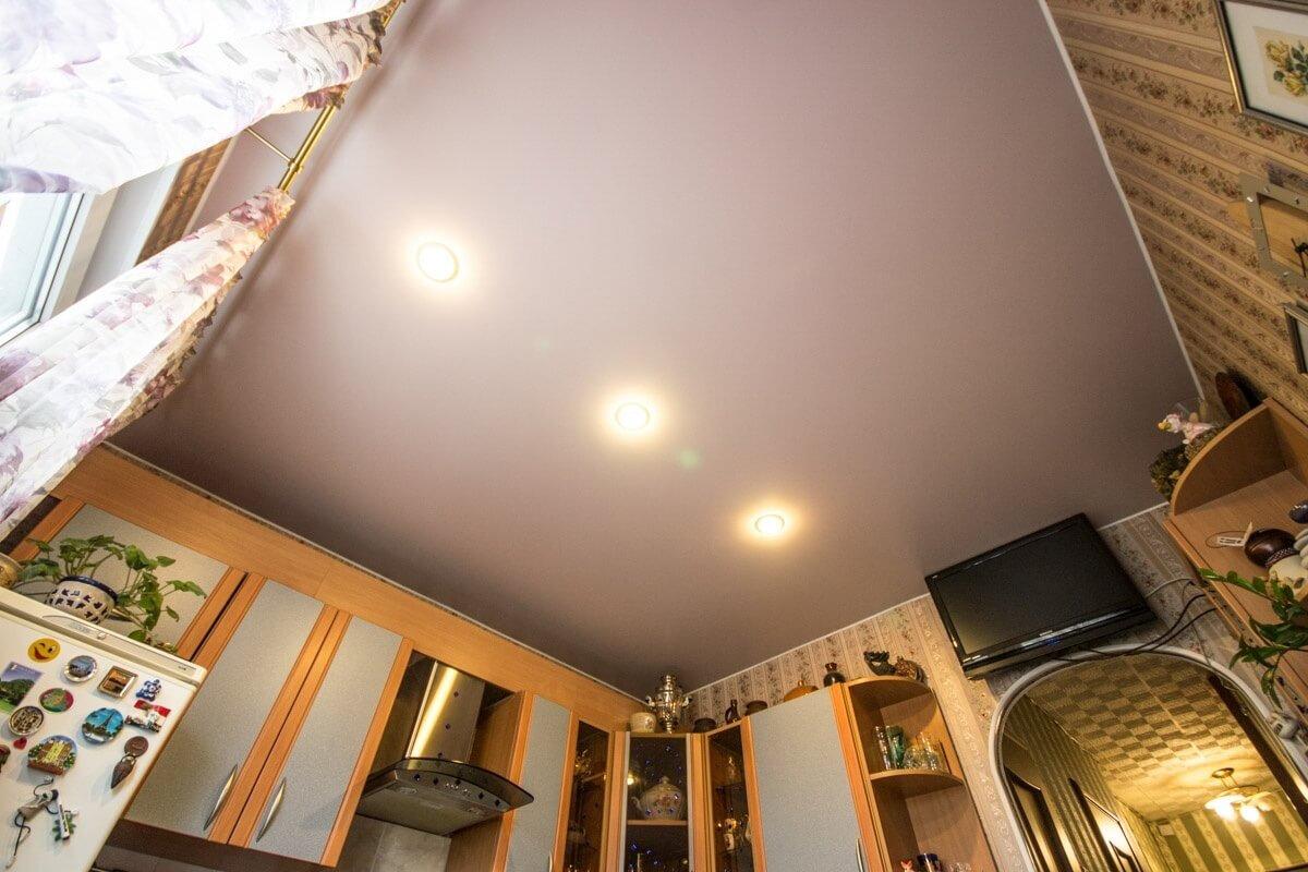 матовый тканевый натяжной потолок