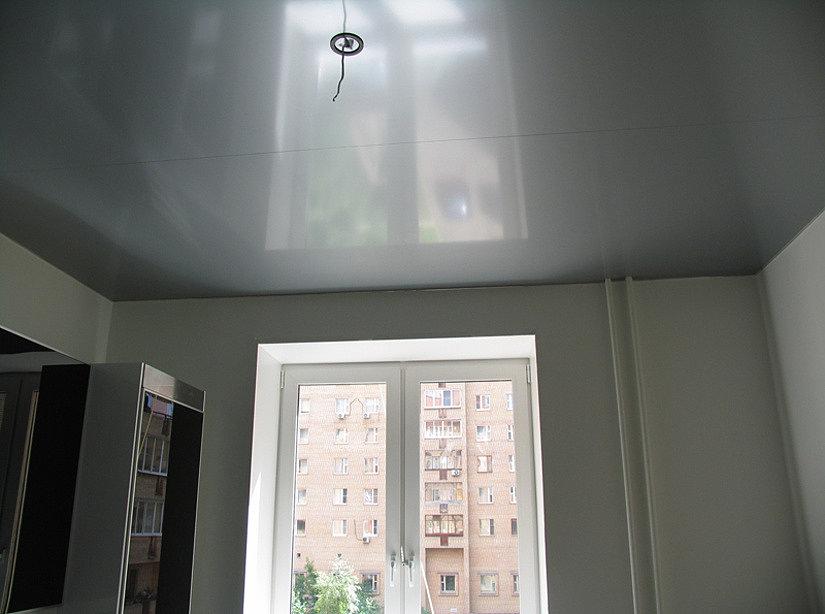 натяжной потолок со швами