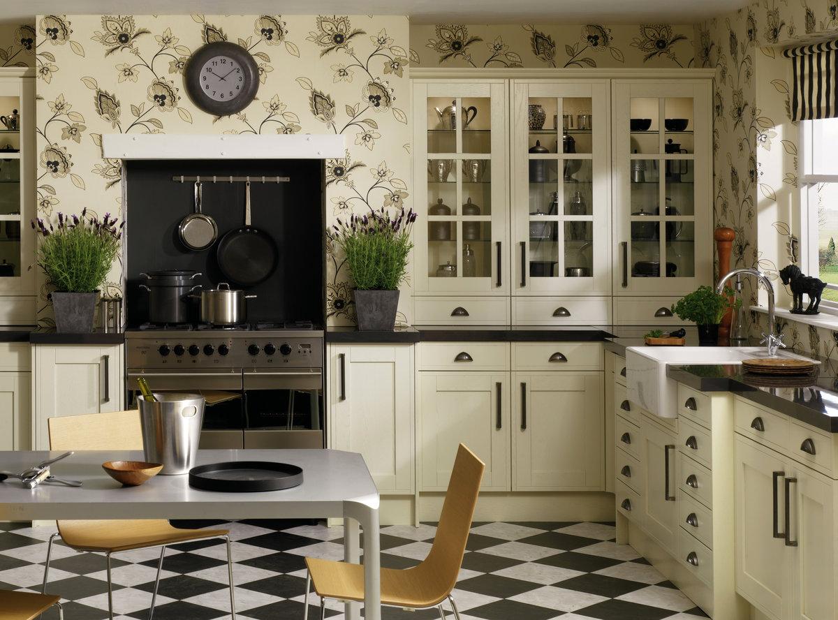 стильные обои на кухне
