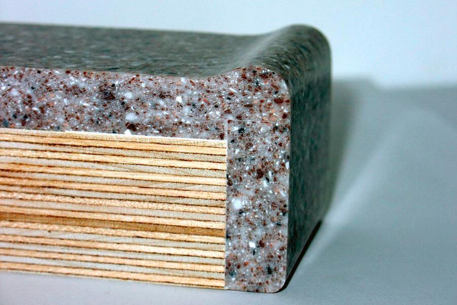 Обработка края столешницы из искусственного камня