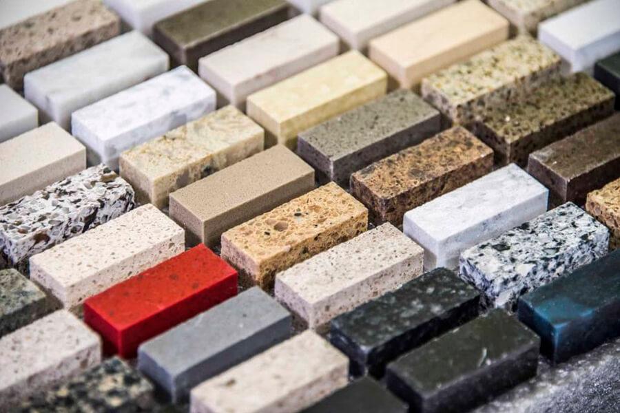 Образцы искусственного камня для столешниц