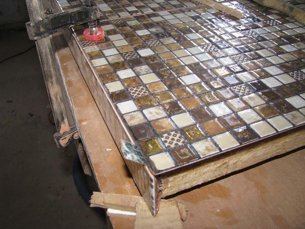 столешница из мозаичной плитки