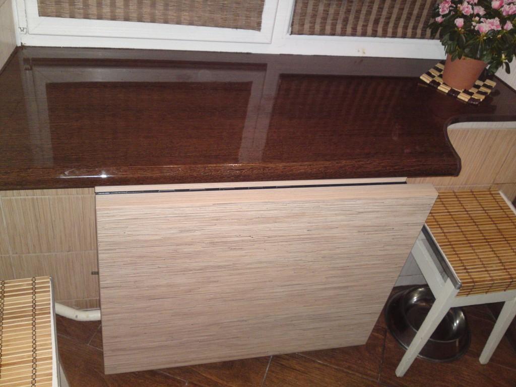 керамическая столешница откидной стол