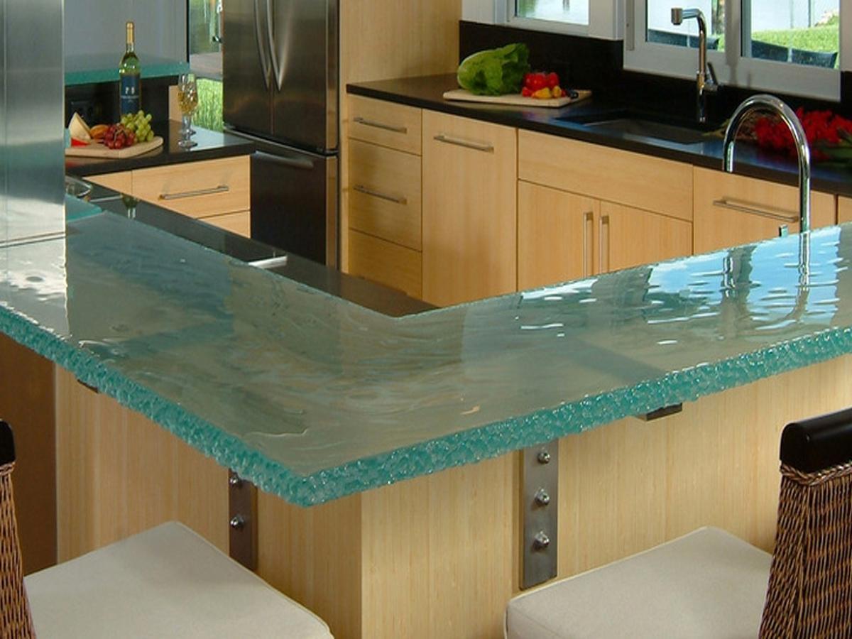 стеклянная столешница кухня