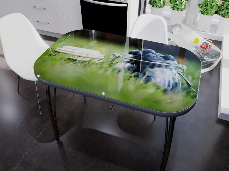 стеклянная столешница с рисунком