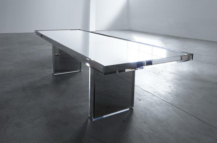 зеркальный стол для кухни