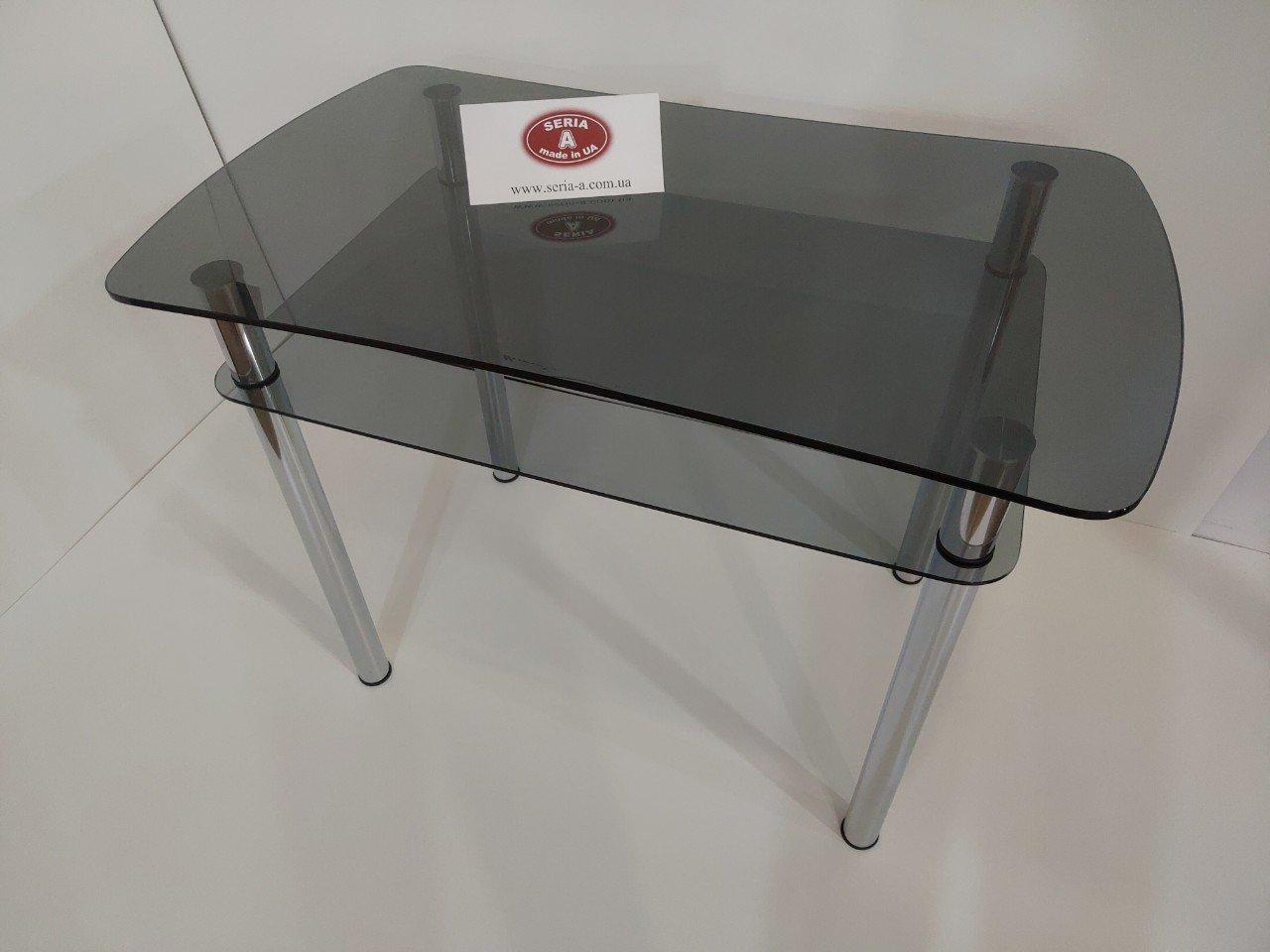тонированный стеклянный стол для кухни