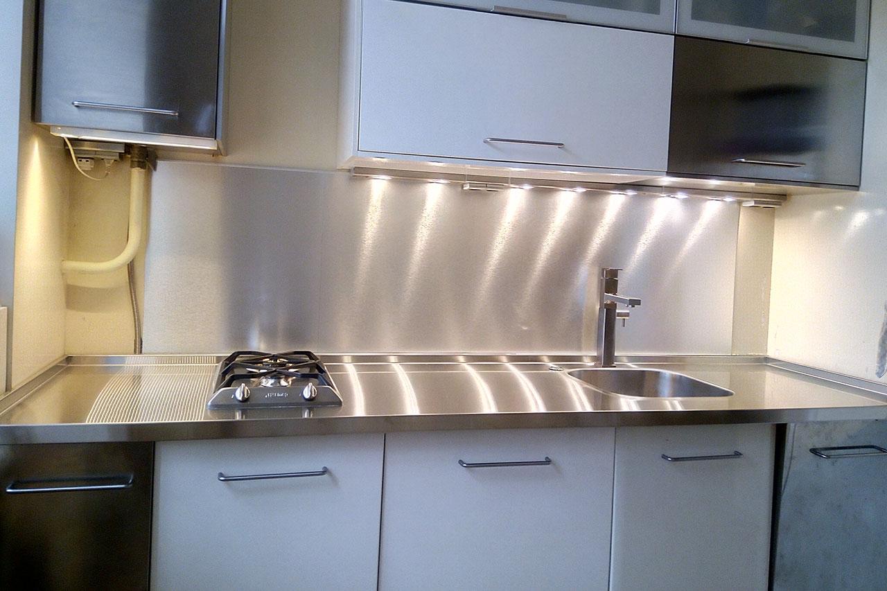 стальная столешница для кухни