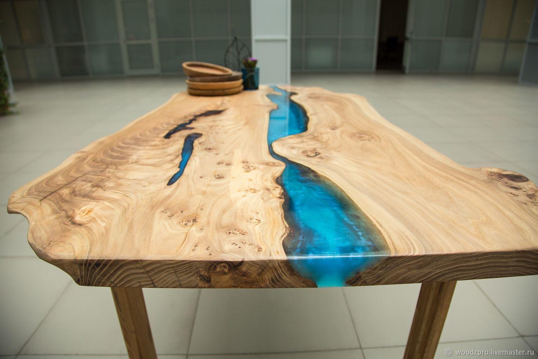стол с эффектом реки эпоксидка