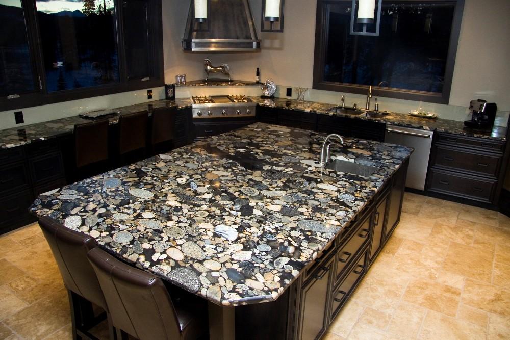 столешница для кухни эпоксидная смола под камень