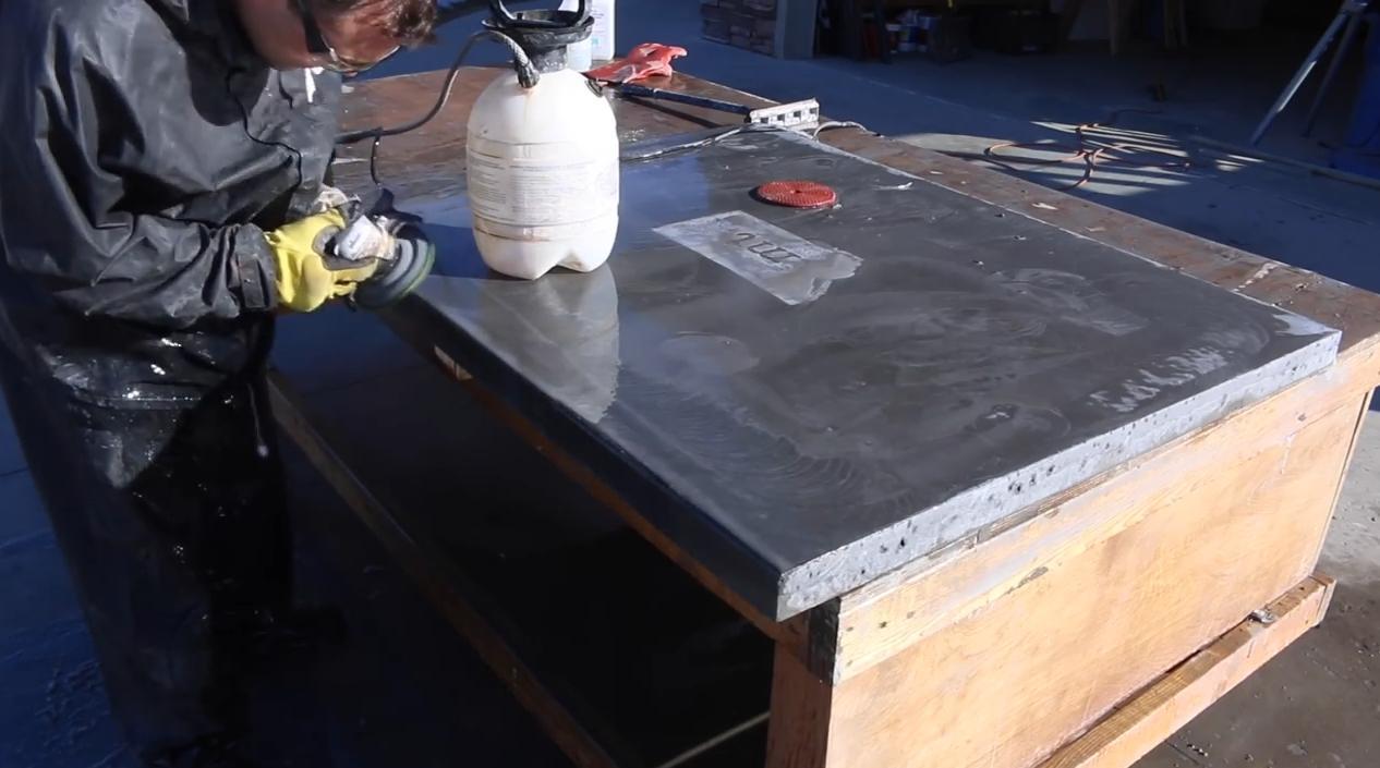 готовая столешница из бетона