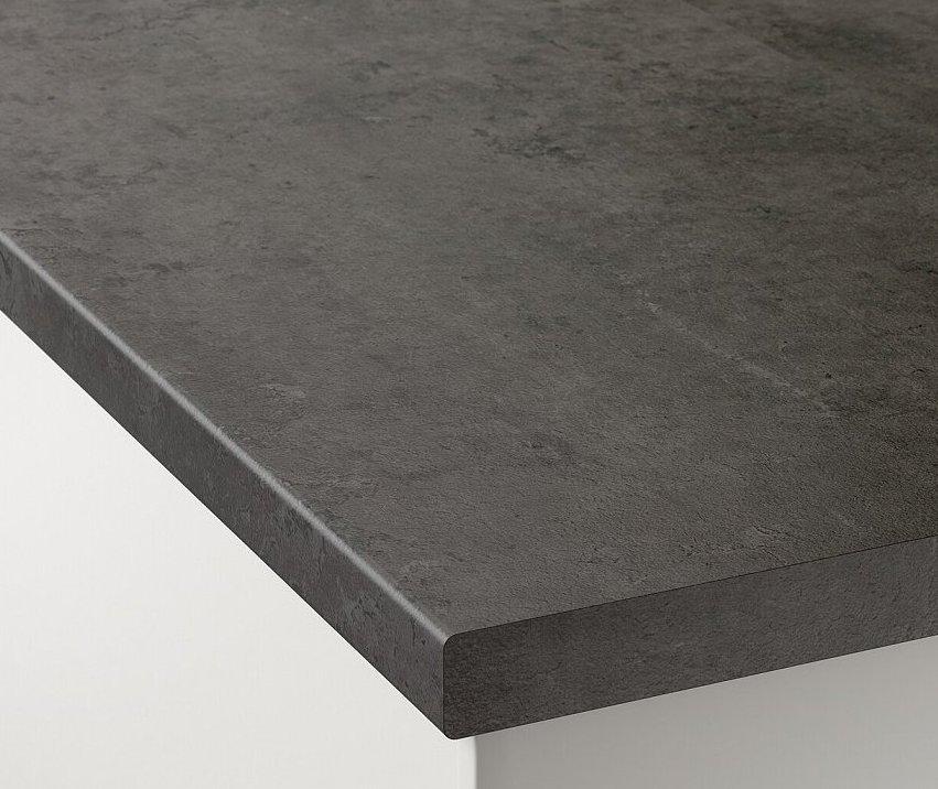 Темно-серая ЛДСП-столешница с фактурой бетона