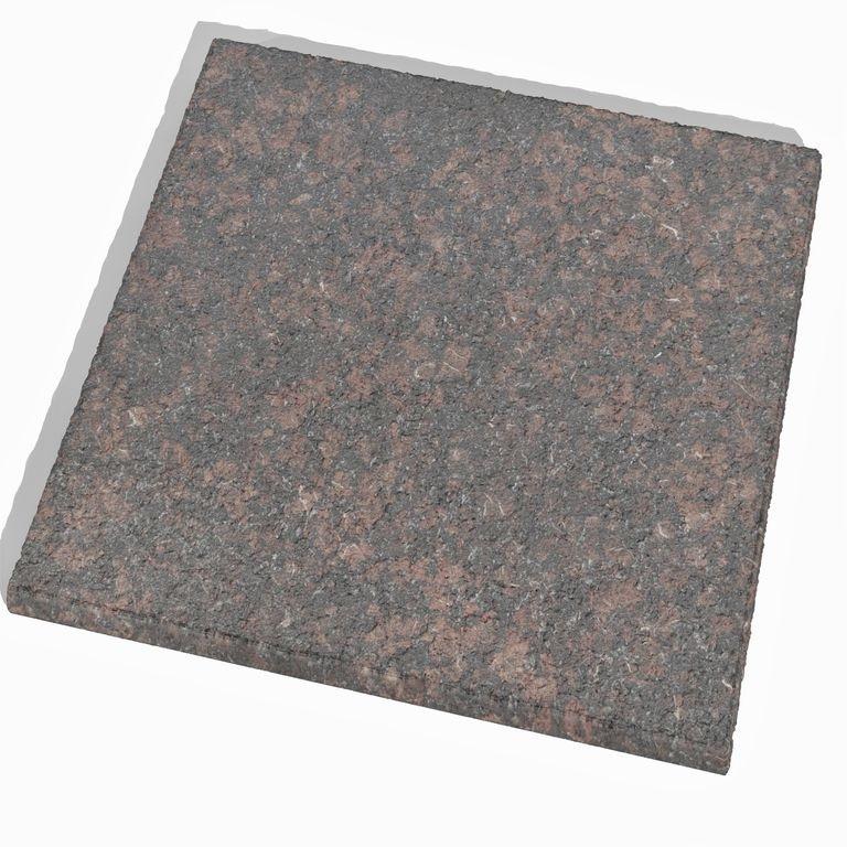 Обоженная гранитная плита