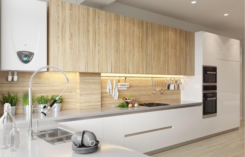 влагостойкая столешница в интерьере кухни