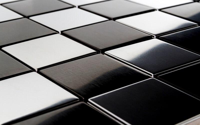 Металлическая мозаика для кухни