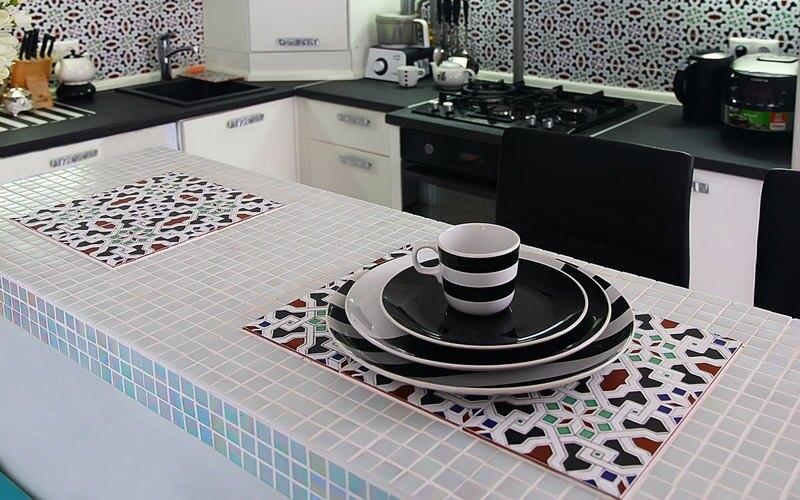 Красивая мозаика для столешницы на кухне