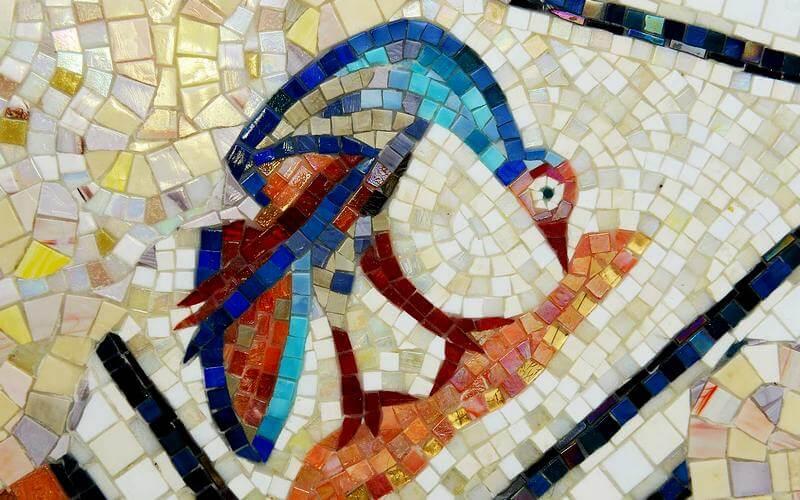 Смальтовая мозаика для кухни