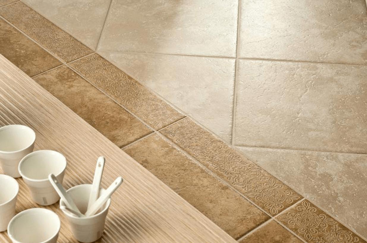 плитки из керамогранита можно укладывать по-разному