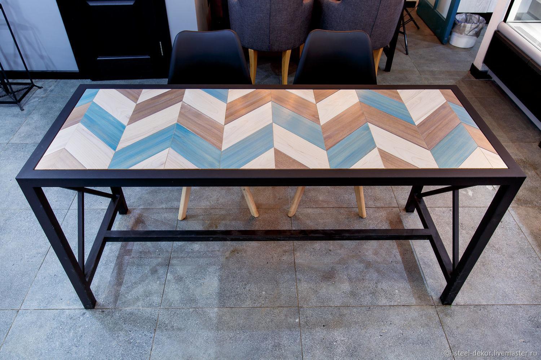 изготовление стола из керамогранита