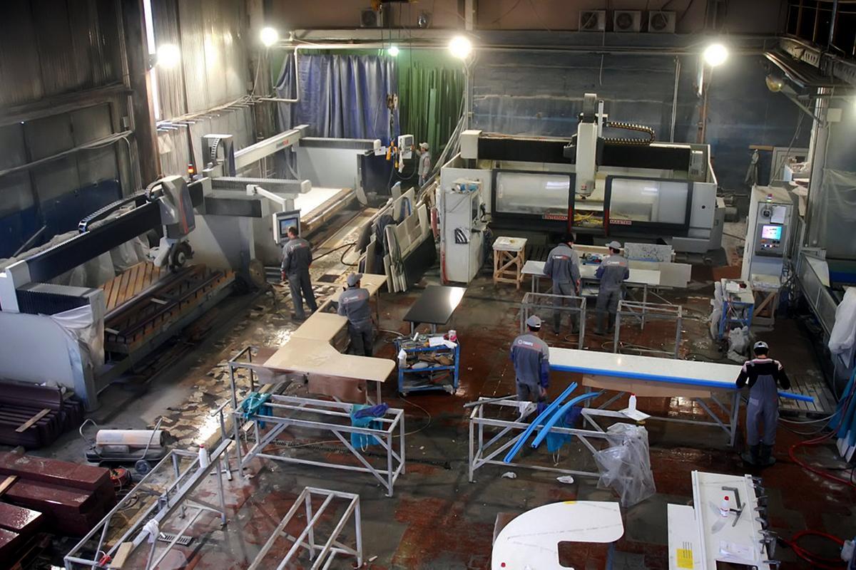 производство мраморной столешницы для кухни