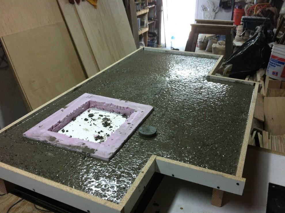 заливка столешницы бетоном